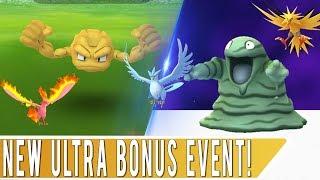 ULTRA BONUS EVENT STARTS TODAY! 5 New Shiny Pokémon in Pokémon GO + Legendary Birds in Raids!