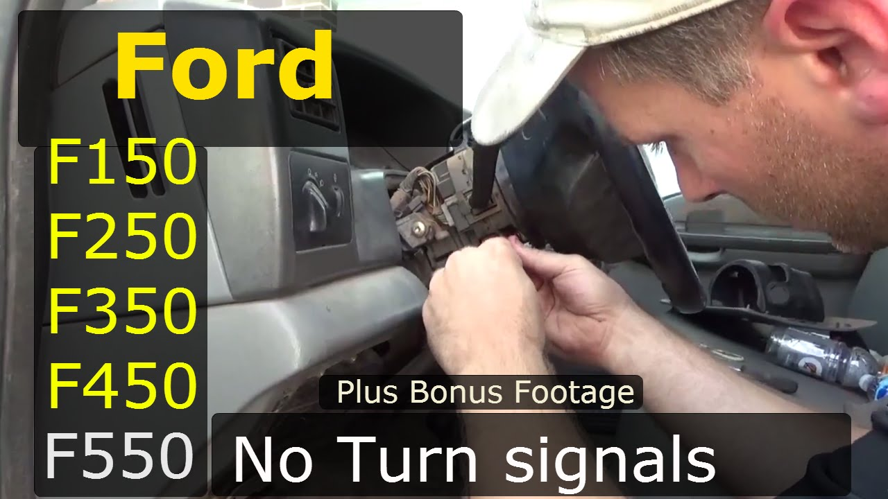 turn signal switch ford f150 f250 f350 f450 f550 plus bonus footage! -  youtube