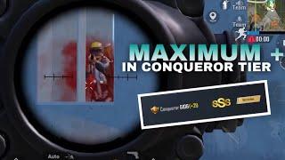 HOW TO GET MAXIMUM PLUS (+) POINT IN CONQUEROR TIER | PUBG MOBILE