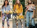 Women trouser jeans for Girls/women | Printed fashionable and colourful jeans girls