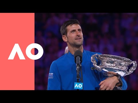 Novak Djokovic championship-winning speech (Final) | Australian Open 2019