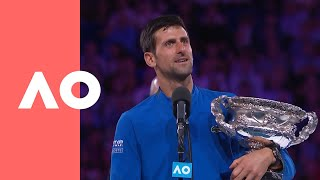 Novak Djokovic championship-winning speech (Final) | Australian Open 2019