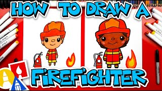 How To Draw A Firefighter - #stayhome and draw #withme