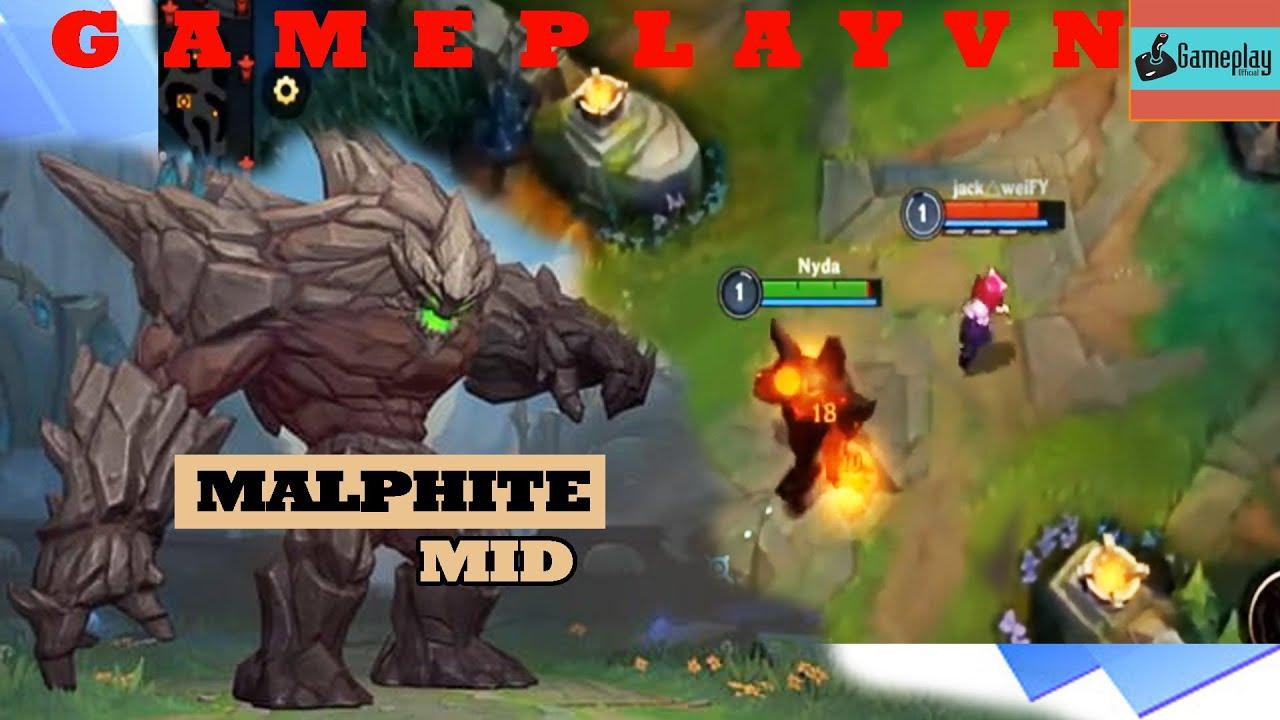 League of Legends Wild Rift |  Gameplay Malphite lol mobile