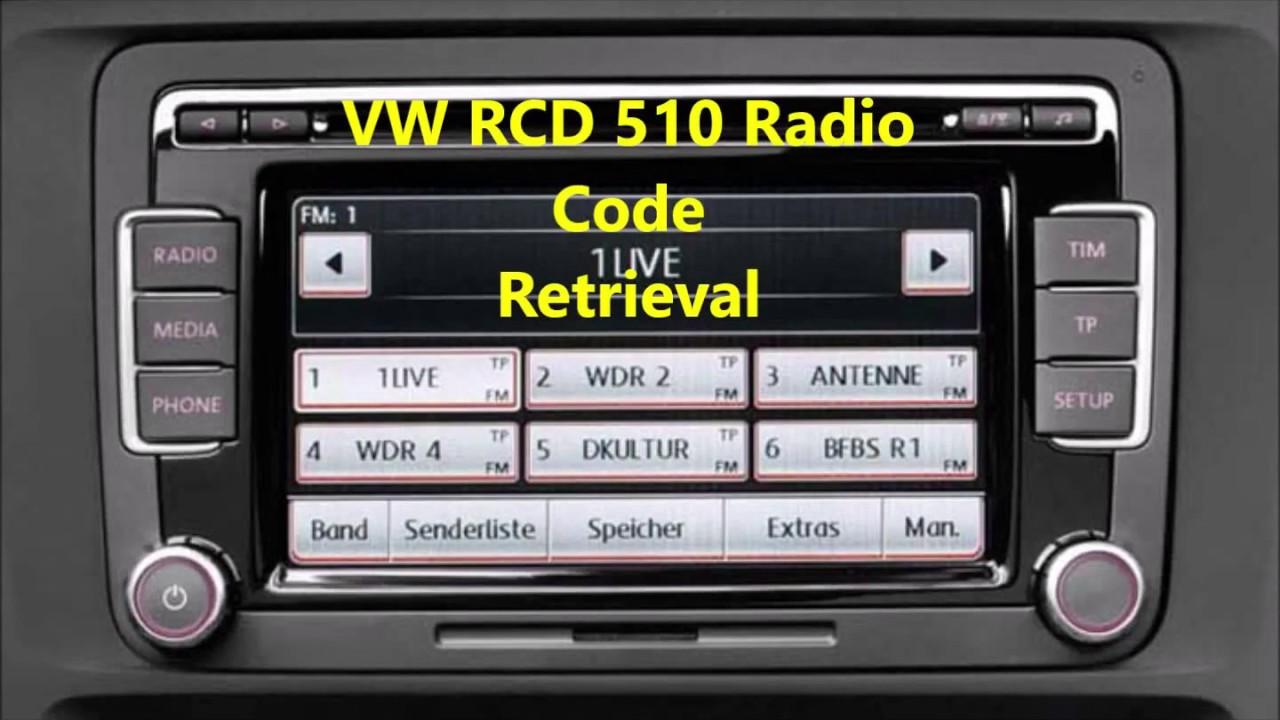 VW RCD 510 Radio Code Retrieval Process With Universal Volkswagen Car Radio  Decoder