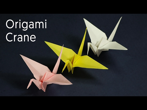 How to make an easy origami paper crane