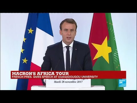 REPLAY - Watch French president Macron's first speech in Africa