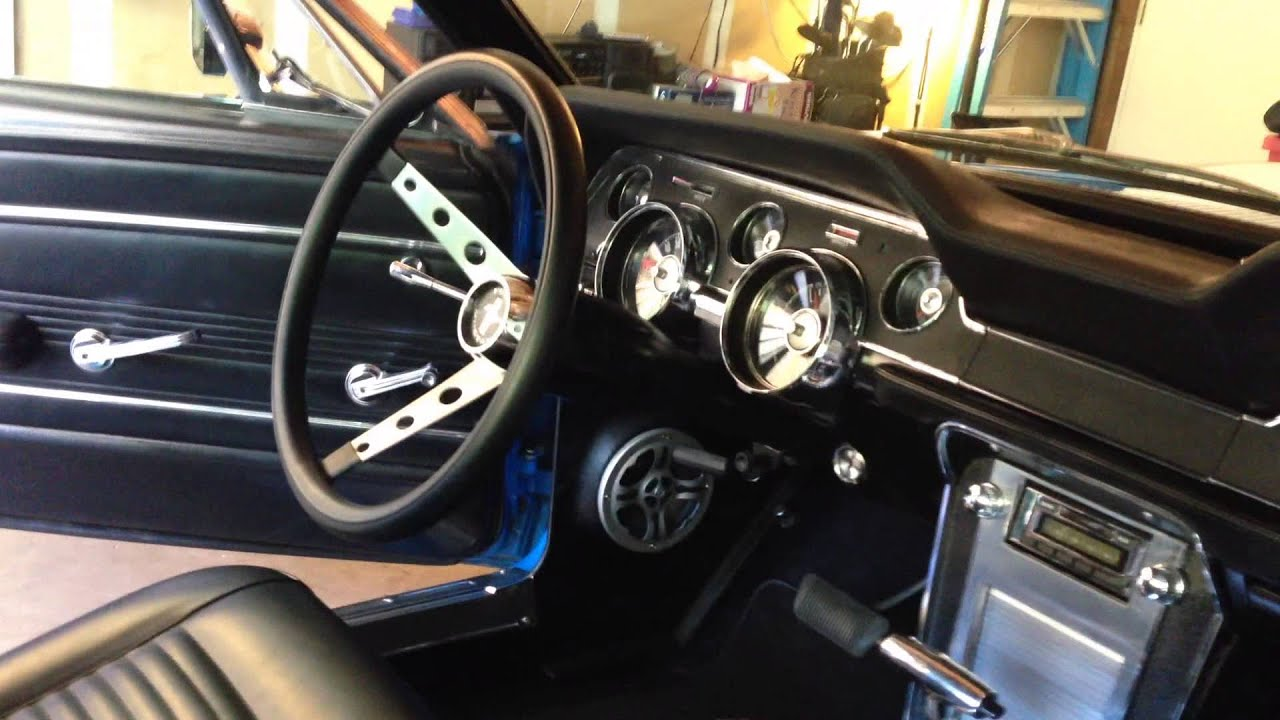 The Car 1977 >> 1967 Ford Mustang interior - YouTube