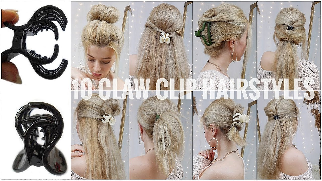9 EASY CLAW CLIP HAIRSTYLES FOR LONG HAIR ❤️ SIMPLE CLUTCHER HAIRSTYLES ❤️  TRENDING HAIRSTYLES