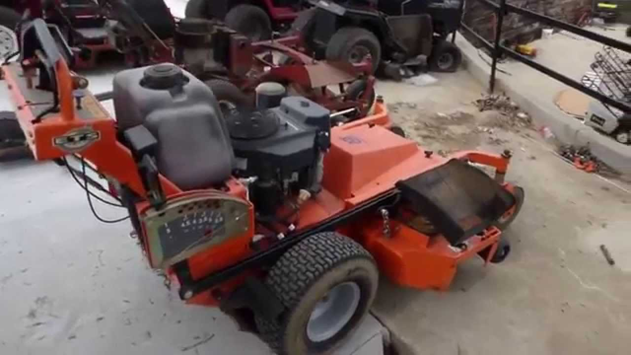 "used husqvarna wh4817 - 48"" walk behind lawn mower 17 hp kawasaki"