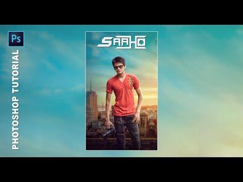 Saaho Fantasy Movie Poster Making in Photoshop | Saaho Photoshop Manipulation Tutorial