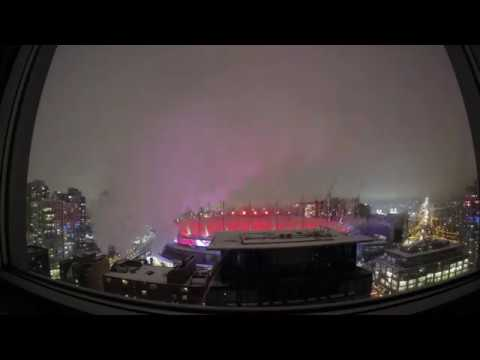 Time Laps over BC Place Vancouver,BC 04-Feb-2017 MS