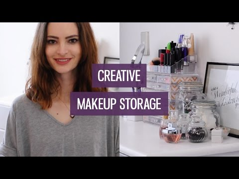 Creative makeup storage ideas for small collections | CharliMarieTV