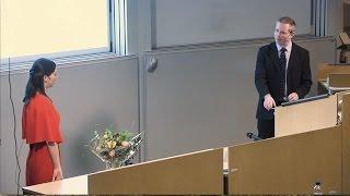 PhD defense, Paula Zitinski Elias, Linköping University, Sweden