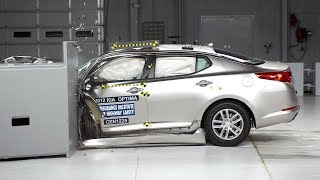 2012 Kia Optima driver-side small overlap IIHS crash test
