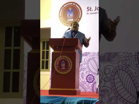 Xavier Britto, Chairman, Kerry Indev Addressing at  St. Joseph College, Trichy-25th Jan-2018
