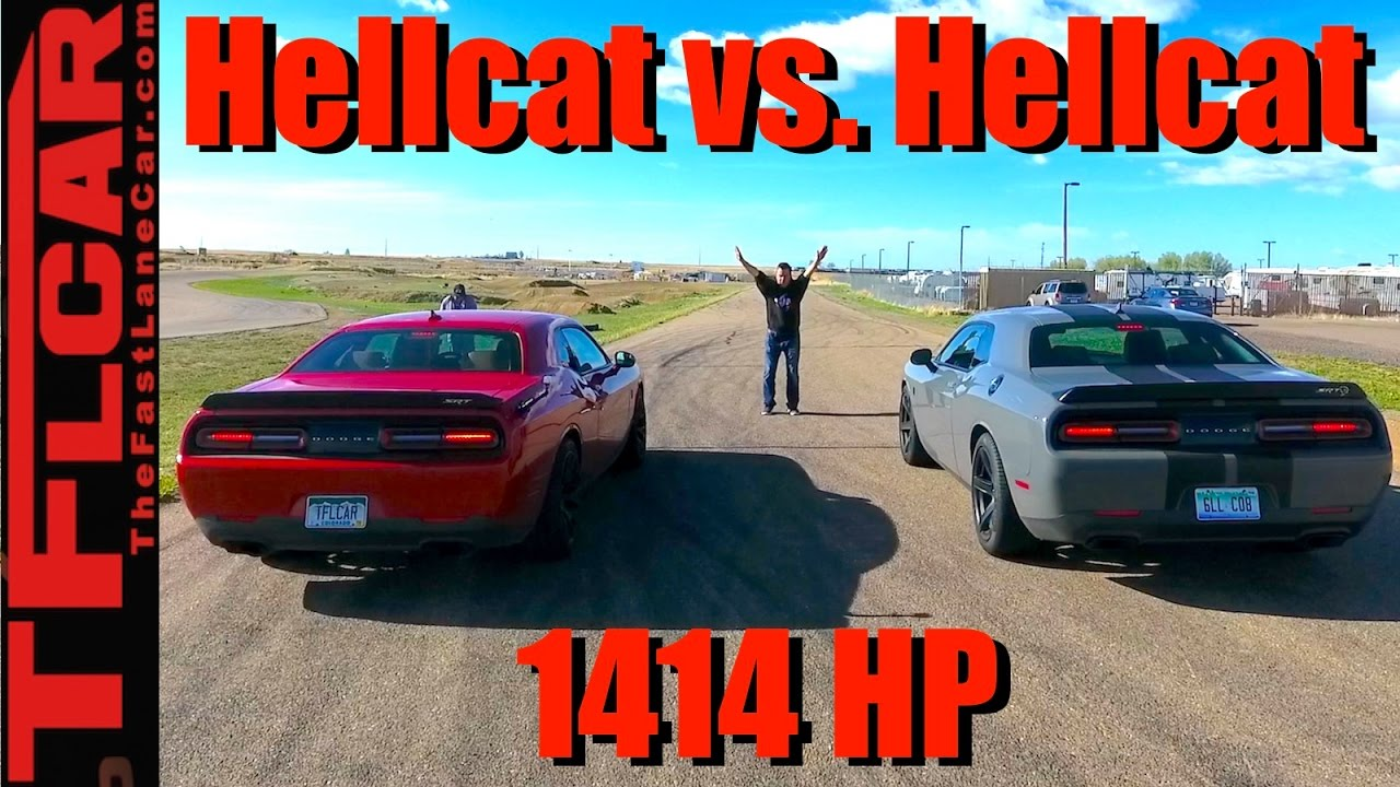 Hellcat Vs Demon >> 2016 vs 2017 Hellcat Drag Race: While the Demon is Away...The Hellcats will Play! - YouTube