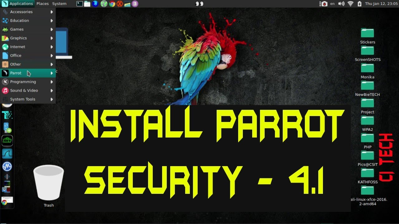 How to install Parrot security os 4 1 on vmware | virtual box