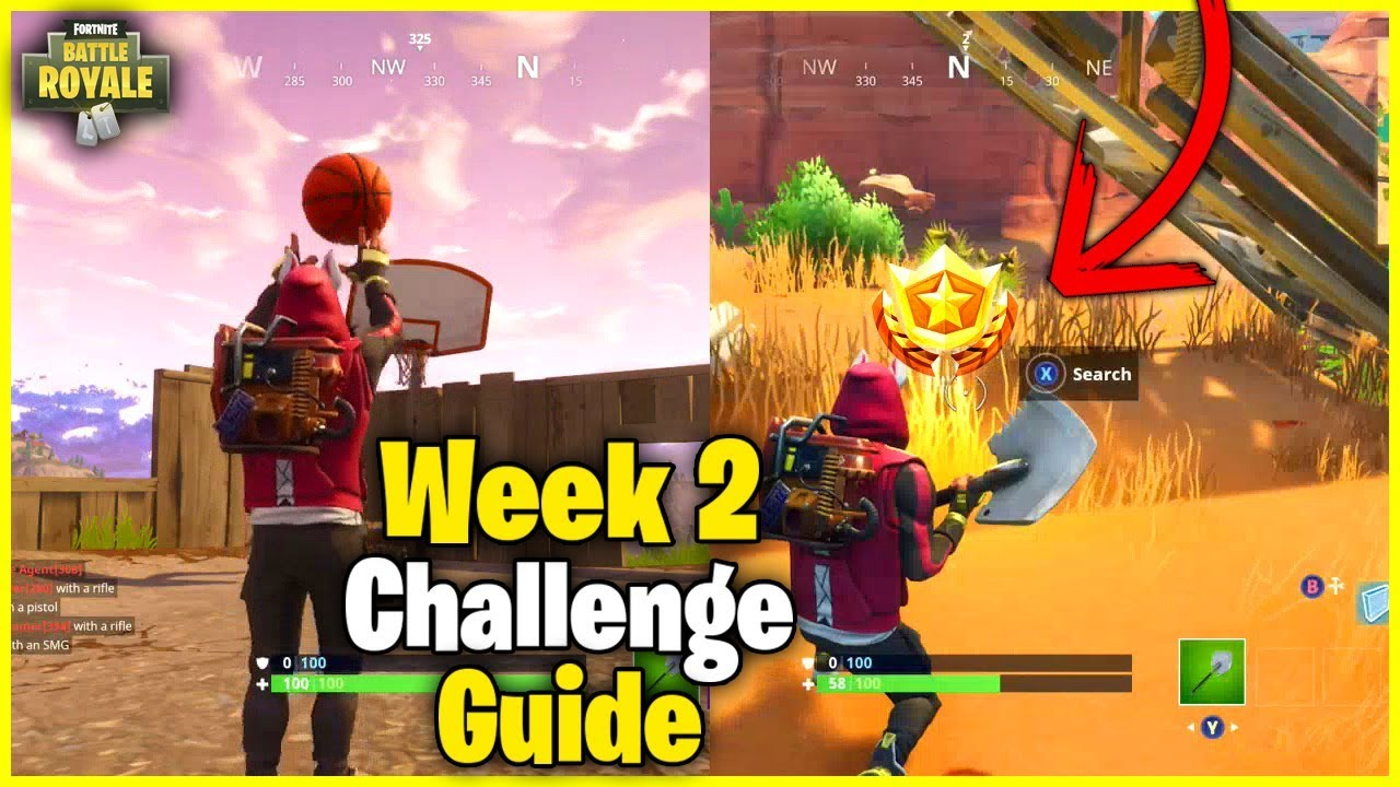 search between an oasis rock archway and dinosaurs s5 week 2 challenge guide fortnite - dinosaurs fortnite challenge