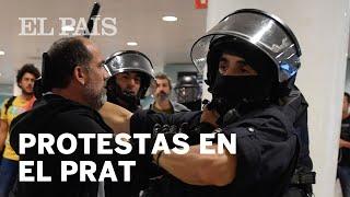 SENTENCIA PROCÉS | Los Mossos cargan en EL PRAT y los manifestantes cortan CARRETERAS y VÍAS de t...