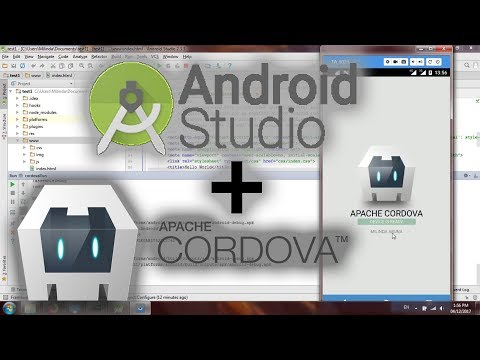 Install Cordova, Import to Android studio to Deploy using PhoneGap Cordova Plugin