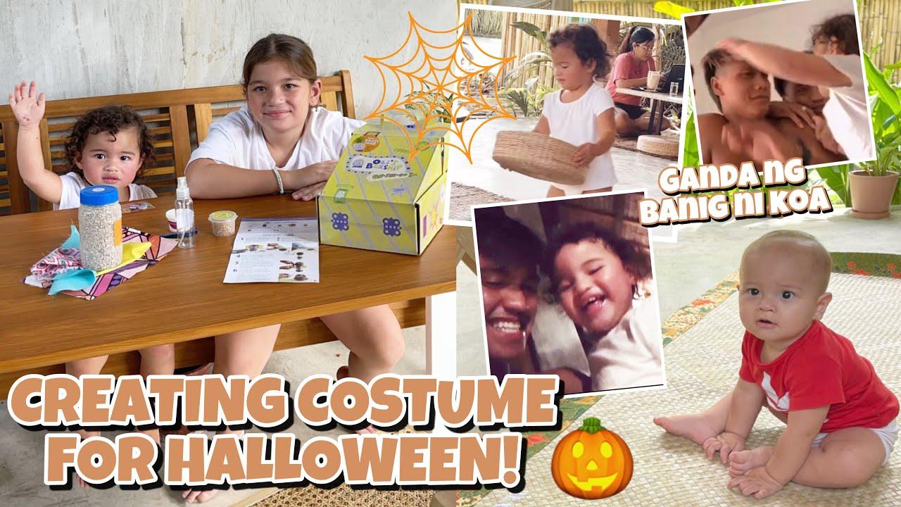 Excited na sa Halloween ang mag-ate Lilo at Ellie 😍 Andi hinayaan si Lilo makipaglaro sa di kilala