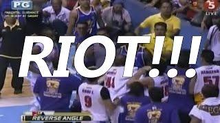 riot jireh ibanez removes jersey of matt ganuelas jr quinahan throws ball at his face