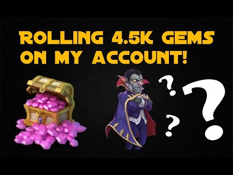 Castle Clash; Rolling 4.5k Gems (will I Finally Get Vlad?!)