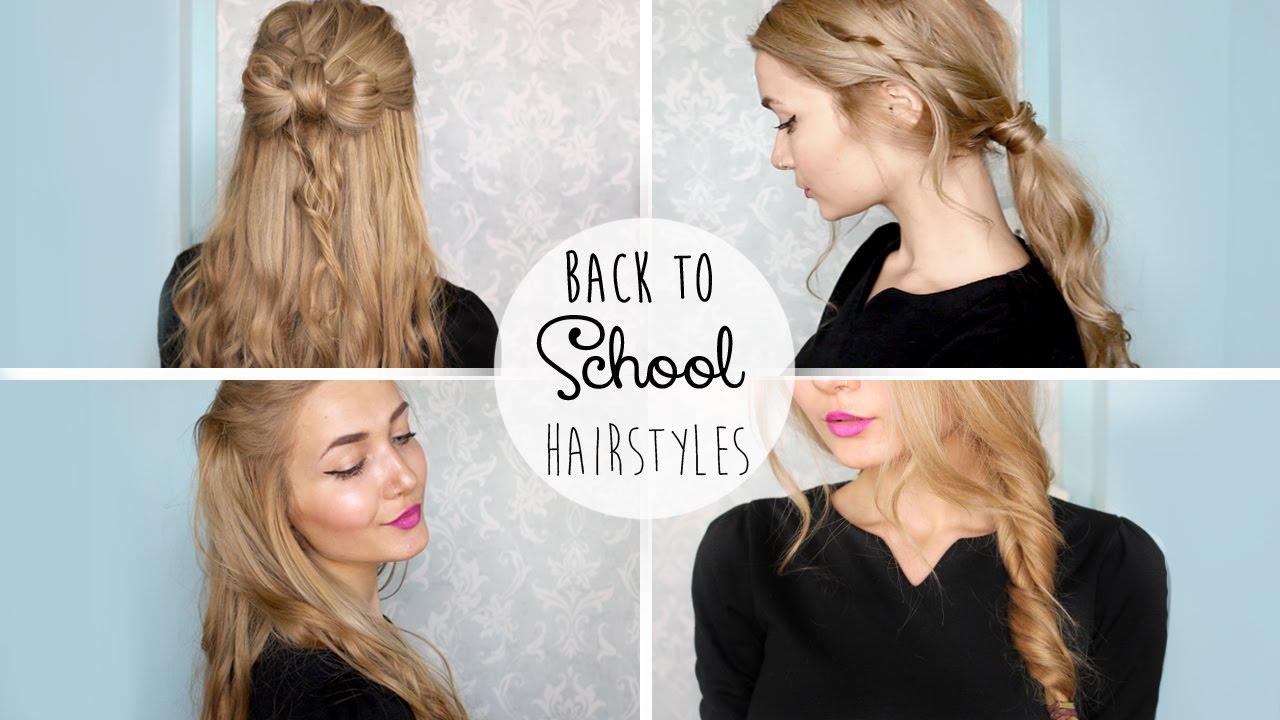 4 cute school hairstyles