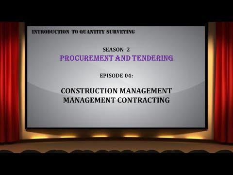 S02E04 Construction Management & Management Contracting Procurement Routes