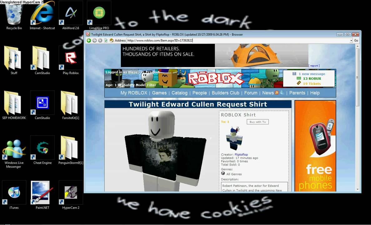 how to steal shirts on roblox