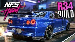 Need for Speed Heat Gameplay - Nissan Skyline R34 GT-R Customization!