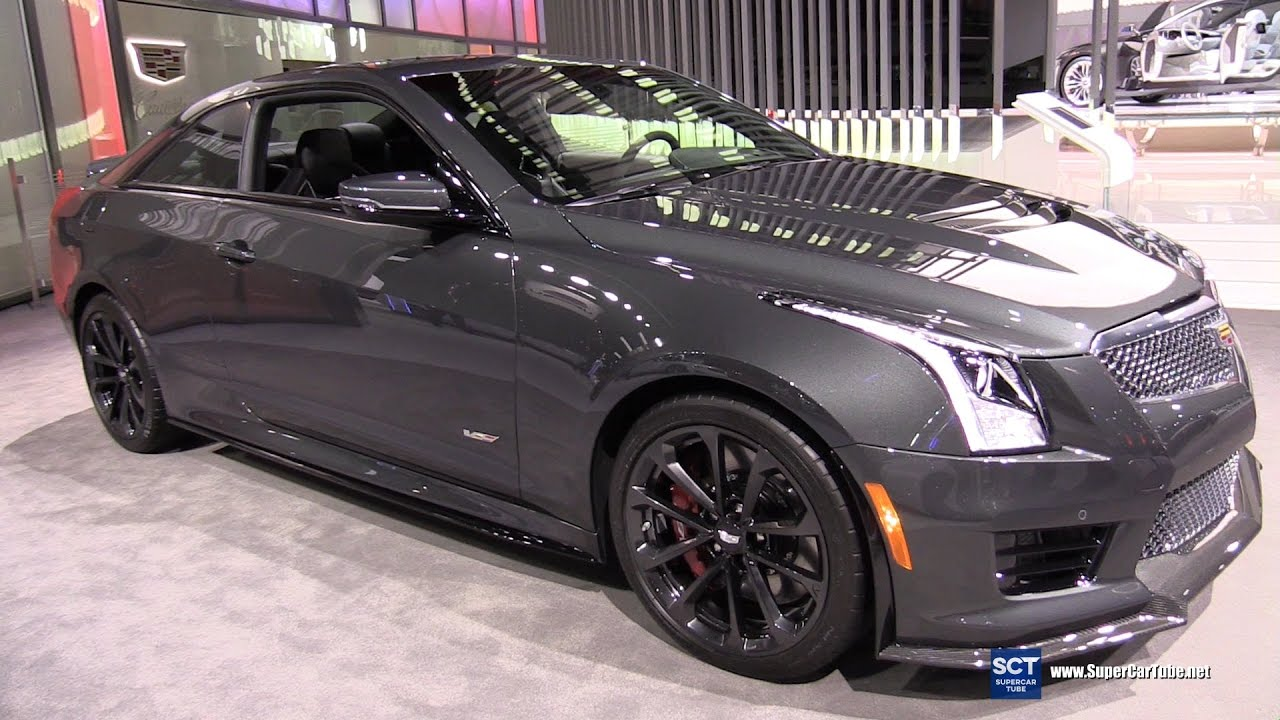 2018 cadillac ats v coupe. wonderful cadillac 2017 cadillac ats v coupe  exterior and interior walkaround 2016 la auto  show youtube on 2018 cadillac ats v coupe t