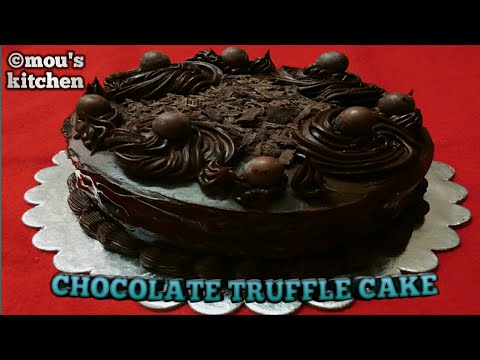 Best Eggless Dark Chocolate Cake Without Oven  Chocolate Truffle Cake Eggless Chocolate Truffle Cake