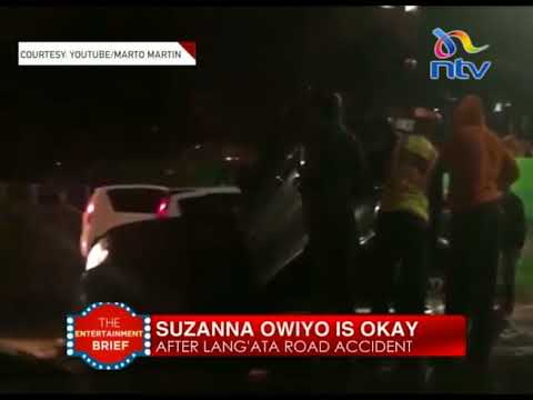 Suzanna Owiyo escapes unhurt after Lang'ata road accident