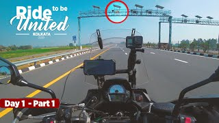 Delhi to Kolkata | Caught on Speed trap | Solo | Versys 650 | Day 1