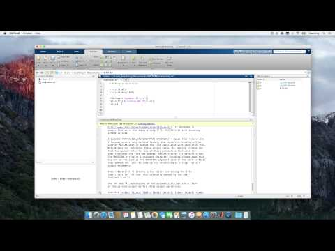 Computational Physics Video 10 - Reading and Writing Data with fprintf in MATLAB