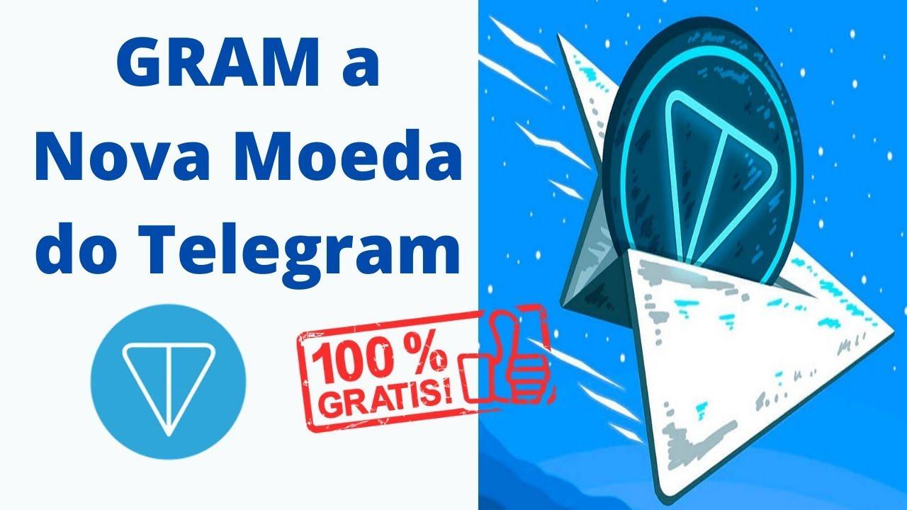 URGENTE!! GRAM Ganhe a Nova Moeda do Telegram GRÁTIS