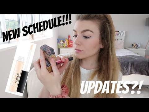 SPRING MAKEUP ROUTINE 2019 + UPDATES AND NEW UPLOAD SCHEDULE