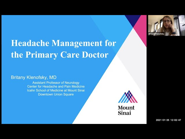 Headache Management for the Primary Care Doctor
