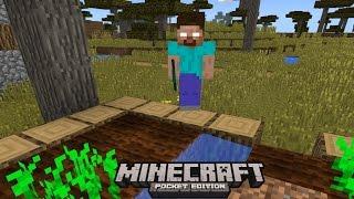 I FOUND HEROBRINE !! (AGAIN) Minecraft Pocket Edition 0.13.0 - 0.14.0 HORROR FILM!
