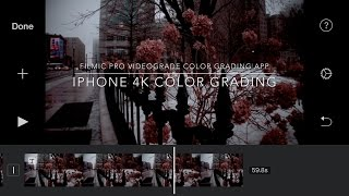 VIDEOGRADE app Iphone 4K Color grading examples Filmic pro 4K All in phone apps