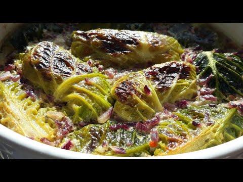 Sarma od kelja u sosu od senfa ☺☺😁 plus VEGAN-POSNO,plus zapečena 👍(2 u 1)
