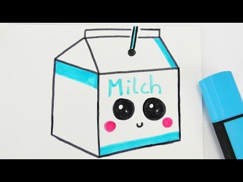 KAWAII MILK DIY | niedliches Milch Getränk zeichnen | How to draw tutorial