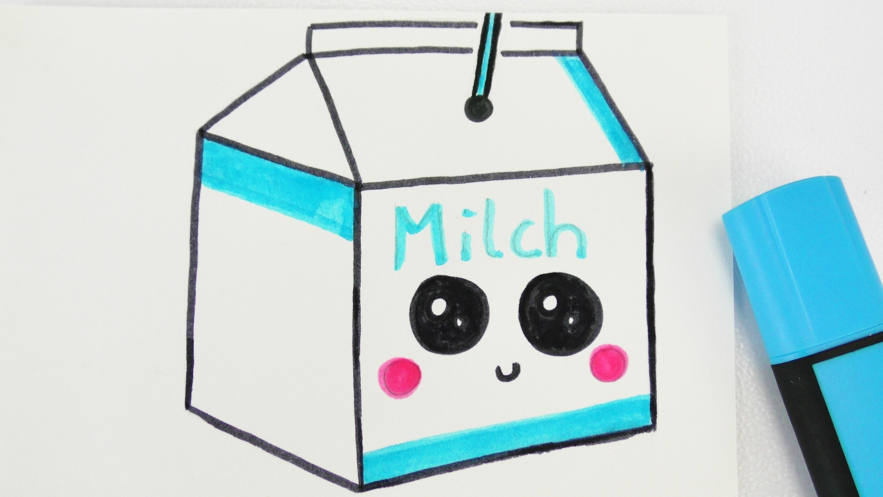 kawaii milk diy niedliches milch getr nk zeichnen how. Black Bedroom Furniture Sets. Home Design Ideas