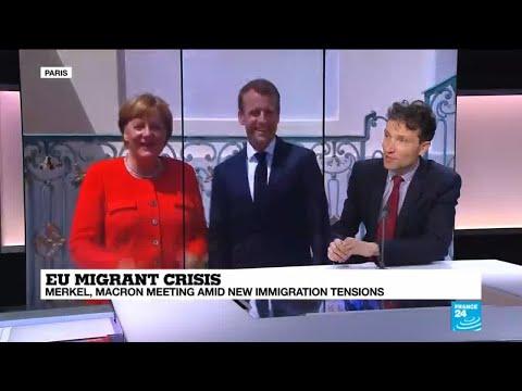 Macron, Merkel meet amid new immigration tensions