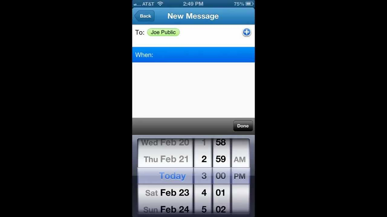 schedule text messages iphone how to schedule a text message on the iphone 16062