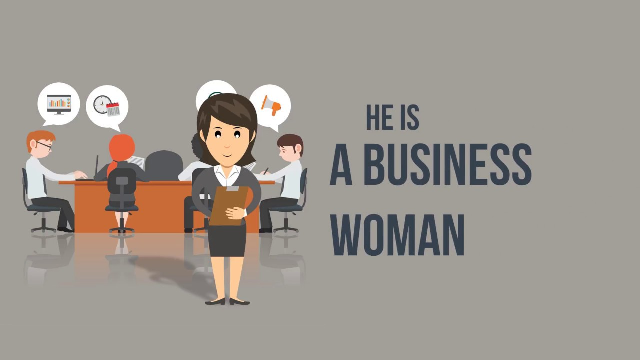 Animated Explainer Video Using Powerpoint Business Woman