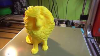 3D Printing (Hairy Lion 1. Attempt)