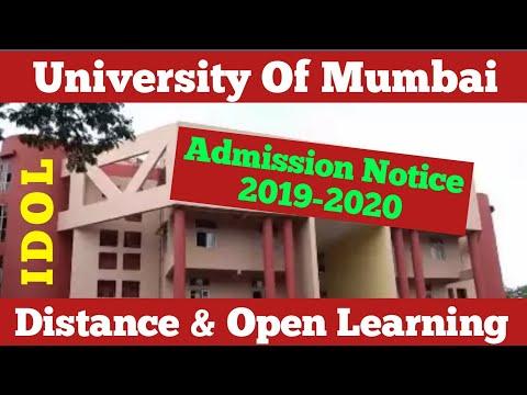 IDOL University Of Mumbai 2019-20 Admission Notice | Dinesh Sir
